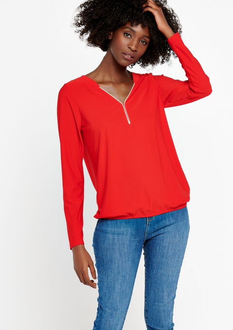 T-shirt met lange mouwen - FLAME RED - 02400052_1398
