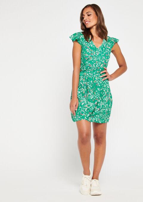 Robe imprimée fleurs - GREEN GARDEN - 08101193_4607