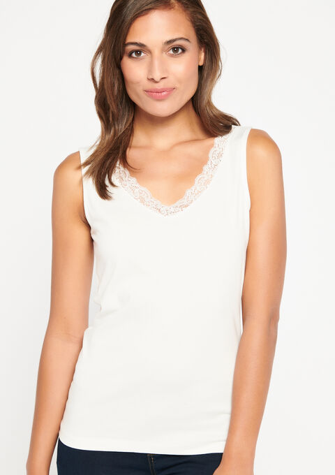 Topje met kant - WHITE ALYSSUM - 945011