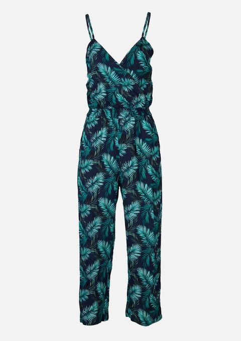 Jumpsuit met tropische print - GREEN POP - 06004039_4615