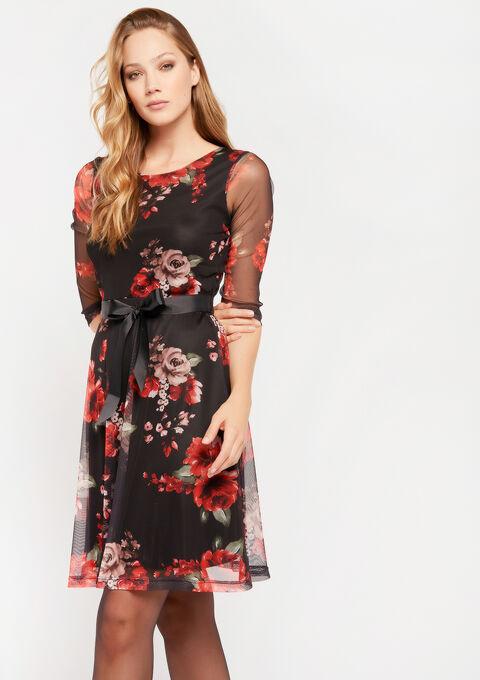 Robe résille à fleurs - RED RACING - 08101600_1497