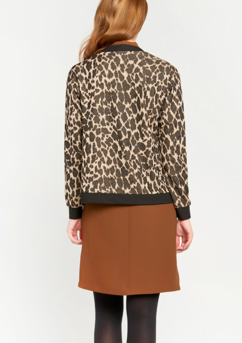 Jasje met luipaardprint - CAMEL ALMOND - 918592