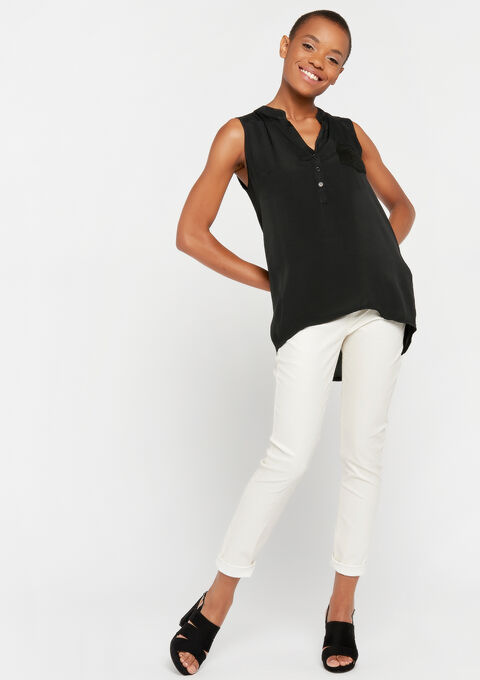Blouse mouwloos - BLACK BEAUTY - 961470
