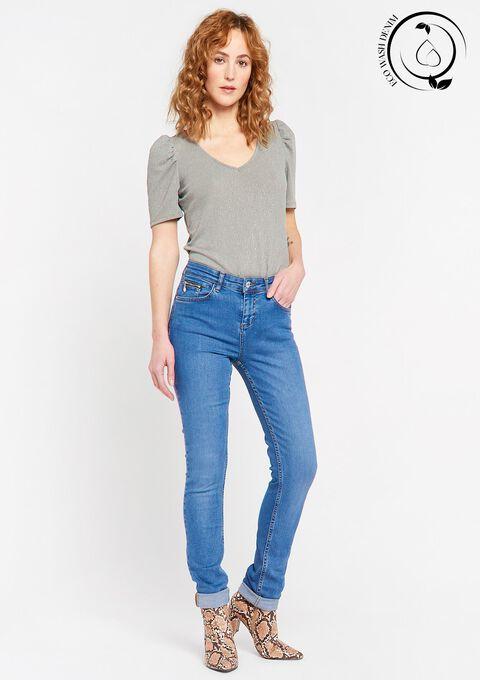 Eco-wash: Skinny push up jeans - MEDIUM BLUE - 22000191_500