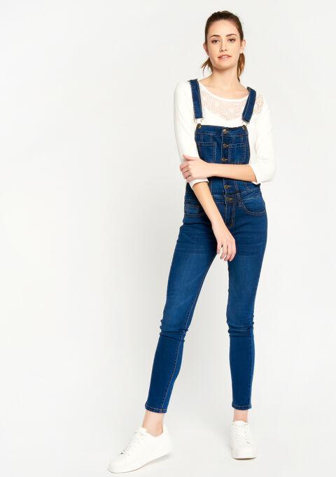 Salopette in jeans - BLUE DENIM - 22000090_1638