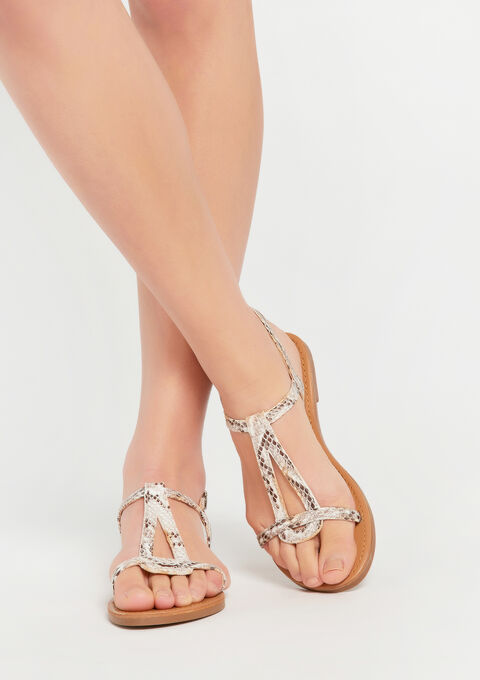 Flat sandals - LIGHT TAUPE - 13000454_1020