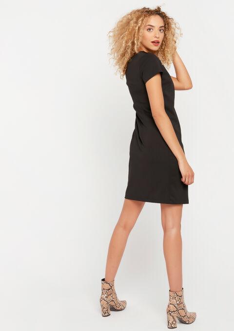 Mini rechte jurk - BLACK - 08101596_1119