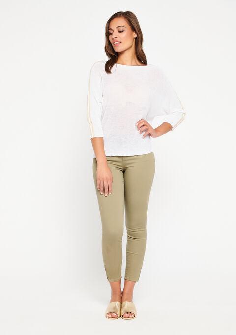 Pantalon slim avec zip à la cheville - KHAKI DUSKY - 06003788_4402