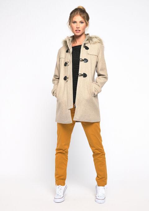 Manteau à capuche - TAUPE NOMADE - 23000103_1905