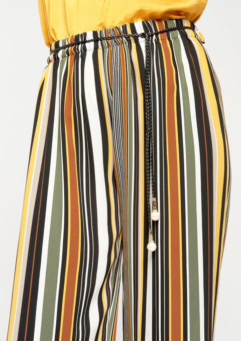 Losse broek met strepen - KHAKI DUG - 06003709_4202
