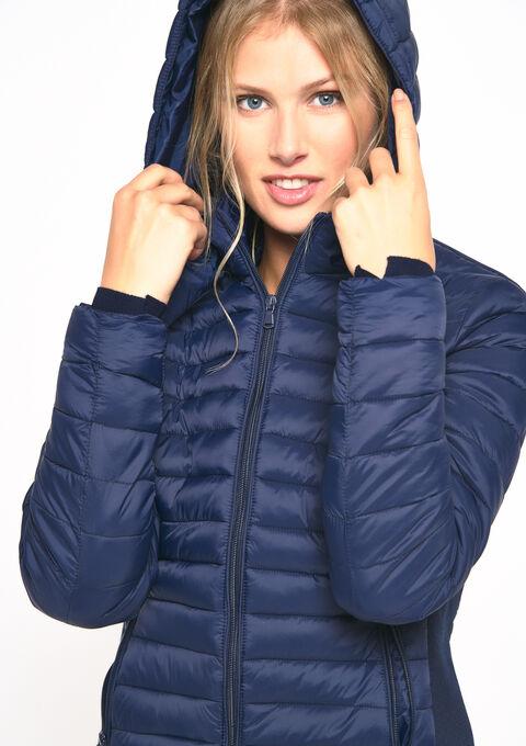 Gewatteerde jas met kap - PEACOAT BLUE - 23000144_1655