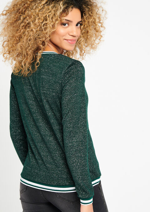 Lurex sweater met boord - FOREST BIOM - 03001216_4502