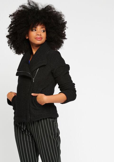 Jasje in perfecto stijl, wol - BLACK - 23000094_1119