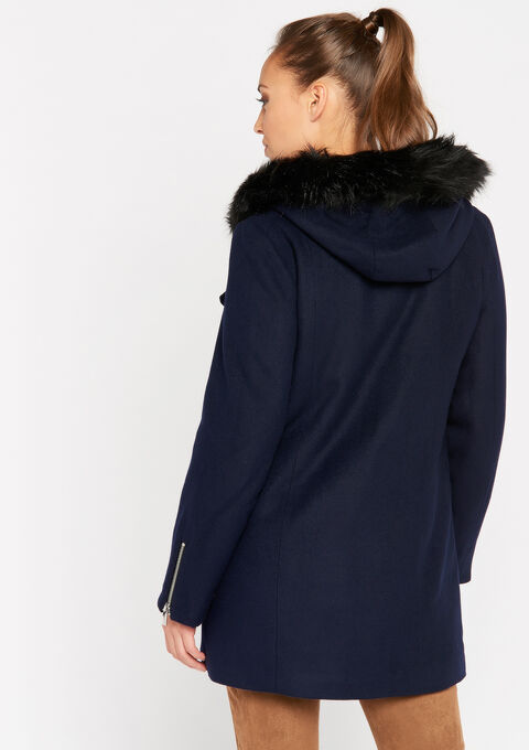 Asymmetrische mantel - NAVY SHADOW - 23000125_2713