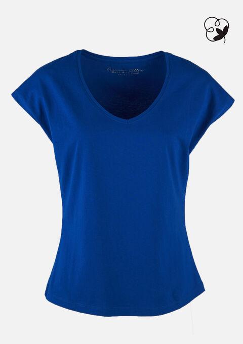 T-shirt organic katoen - BRIGHTY BLUE - 02300600_2807