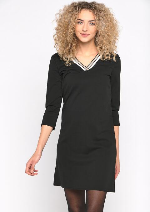 Rechte scuba jurk - BLACK BEAUTY - 08101623_2600