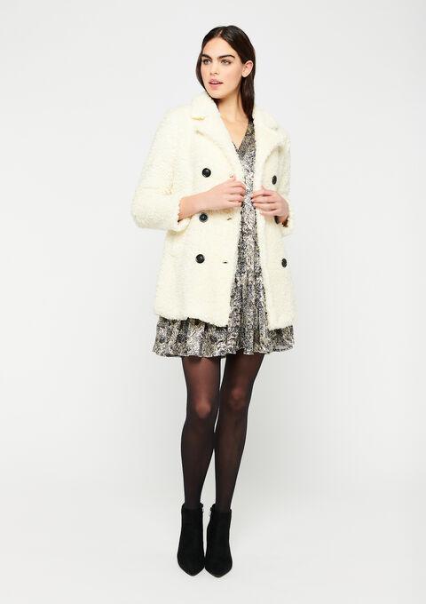 Faux-fur coat - OFFWHITE - 23000192_1001