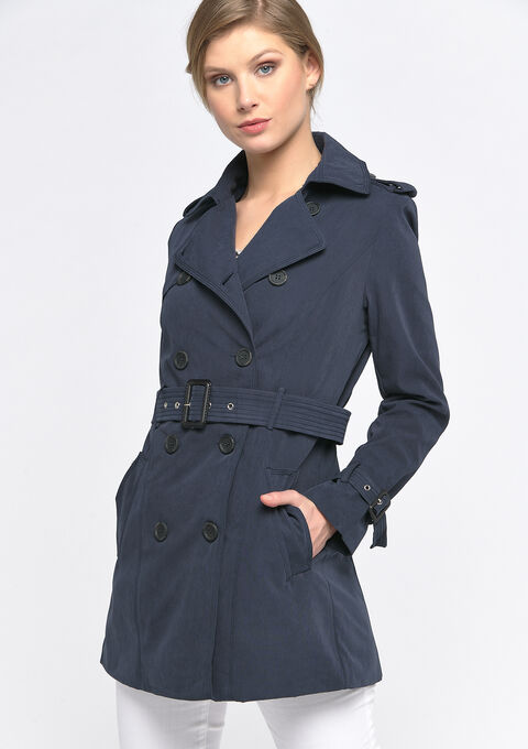 Trench met riem - NAVY BLUE - 23000255_1651