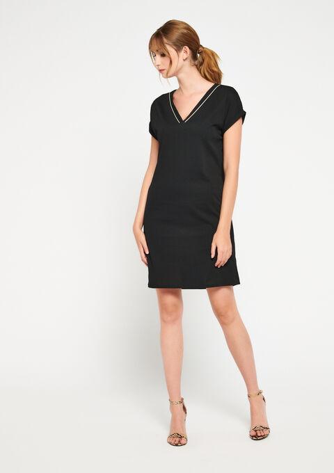 Robe mini droite - BLACK BEAUTY - 08101236_2600