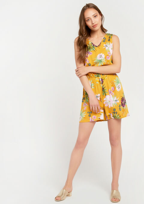 Playsuit met bloemenprint - YELLOW SUREAU - 932355