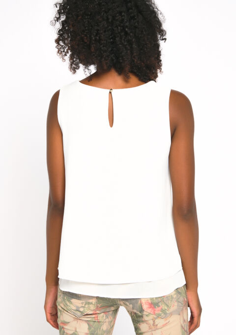 Blouse mouwloos - OFFWHITE - 942460