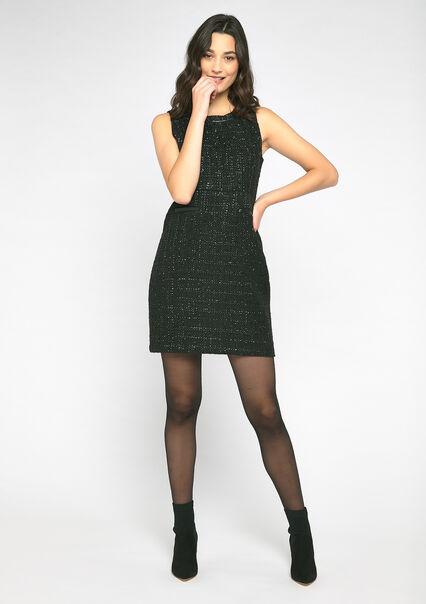 Robe mini en tweed - BLACK - 08100710_1119