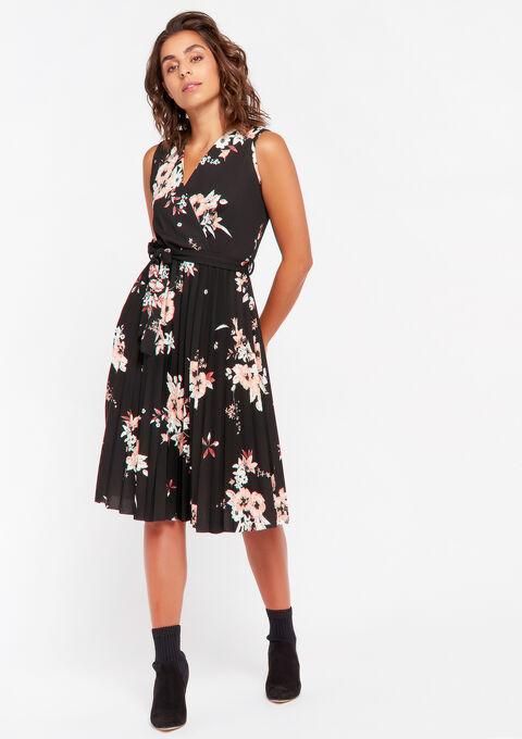 Mouwloos cache coeur jurk - BLACK BEAUTY - 08102139_2600