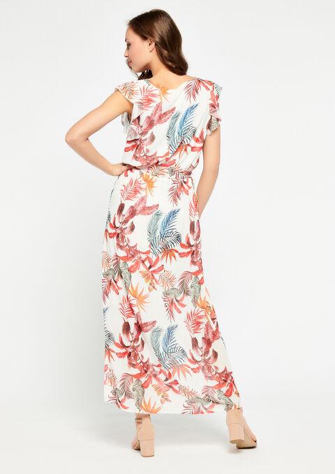 Maxi-jurk met exotische print - ORANGE SUNSET - 08600132_5200