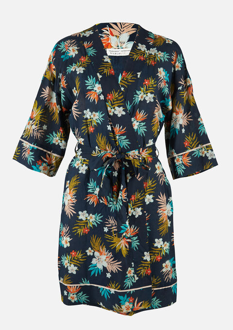 Kimono badjas - NAVY POWER - 15100048_2719
