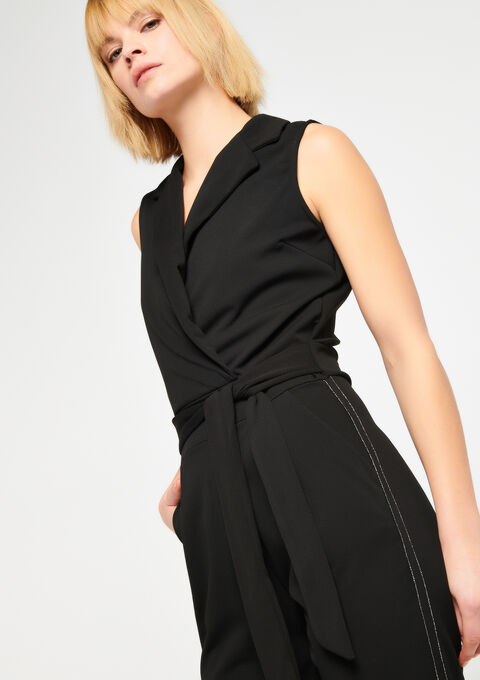 Jumpsuit, stijl smoking - BLACK - 06003841_1119