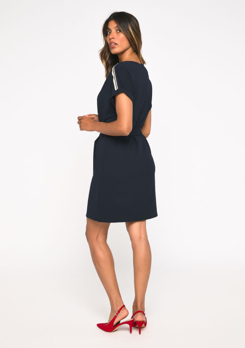 Mini jurk - NAVY BLUE - 08101573_1651