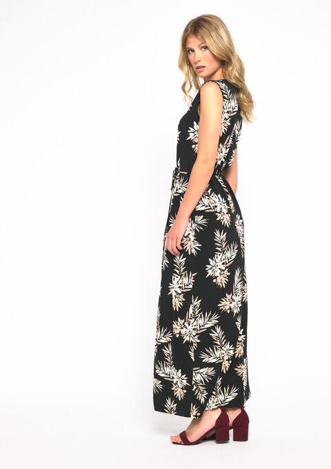 Maxi robe col décoré - BLACK - 08101569_1119