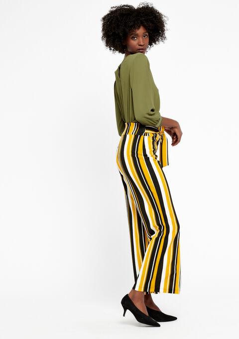 Losse broek met strepen - YELLOW SUREAU - 06600083_4913