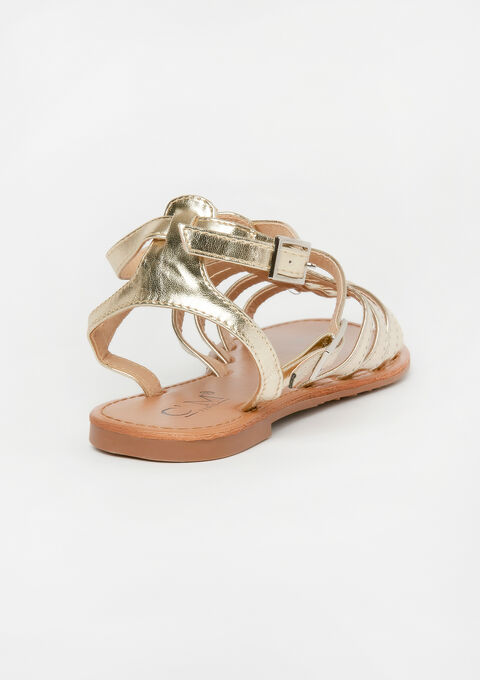 Platte romeinse sandalen - GOLD - 13000457_1058