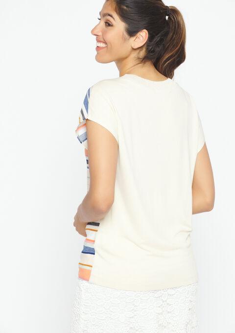 T-shirt met strepen - CORAL EMBERGLOW - 02300260_5404