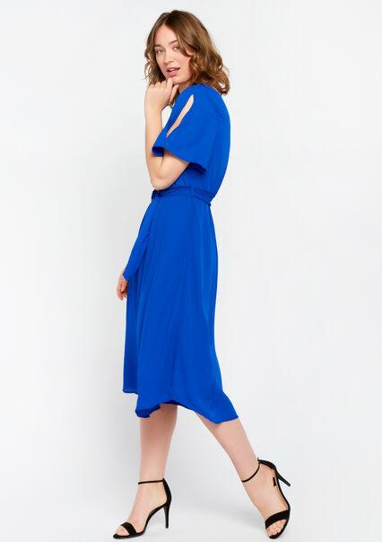 a6178772ef2ada ... Effen jurk met v-hals - BLUE ELECTRICAL - 08100533 2805