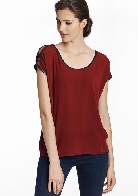 cda65ca632ace2 Plain blouse with open shoulders - CABERNET BORDEAU - 05002453 1452