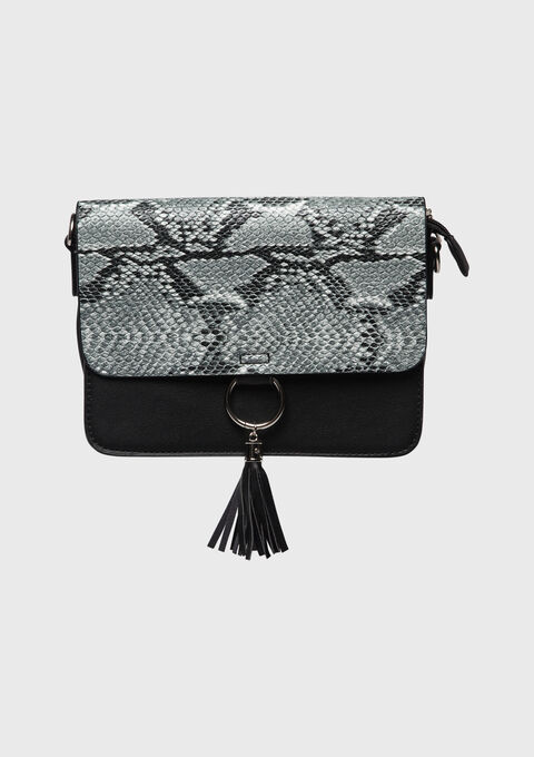 Handtas met python print - BLACK - 934770