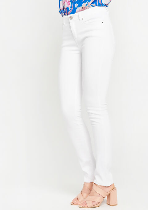 Skinny basique, 5 poches - OPTICAL WHITE - 917296