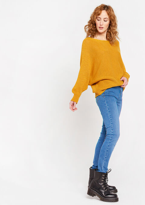 Pull manches chauve-souris - REAL OCHER - 04005143_5107