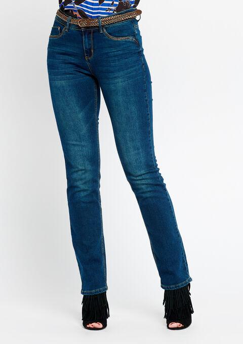 Rechte jeans, riem - DARK BLUE - 22000043_501