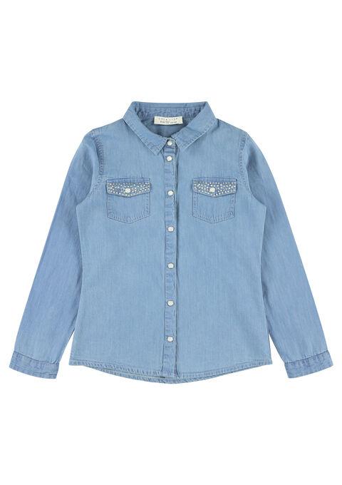Jeanshemd met strass - MEDIUM BLUE - 906953