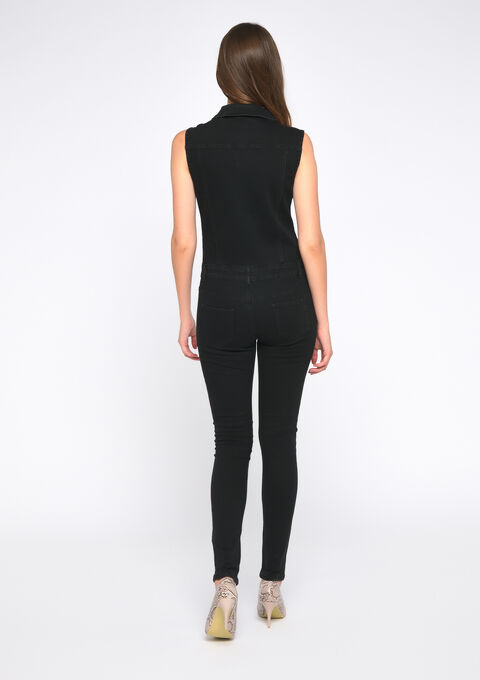 Jumpsuit in jeans - BLACK - 22000145_1119