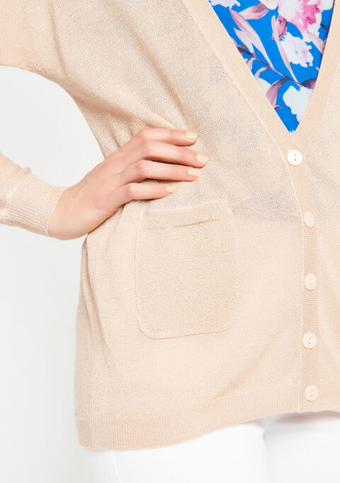 Basic cardigan - PINK CALM - 04100584_4102