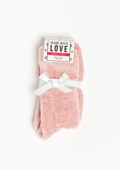Fluffy sokjes met antislipzool - EVENING SAND - 915793