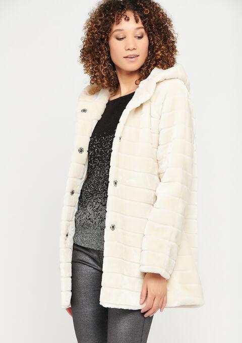 Faux-fur coat - OFFWHITE - 23000221_1001