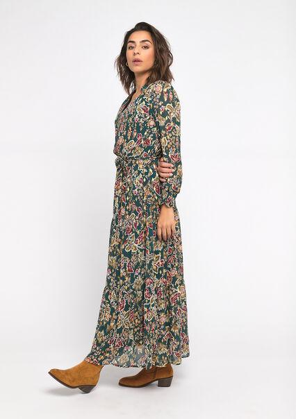 Maxi robe imprimé fleuri - KHAKI ARMY - 08601023_4314