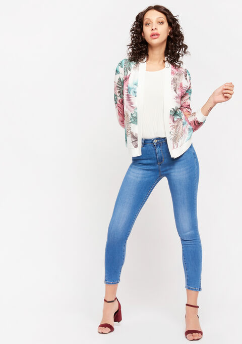Vest met bloemenprint - OFFWHITE - 09100430_1001
