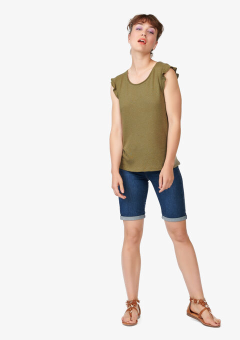Effen T-shirt - BOLD KHAKI - 02005563_1879