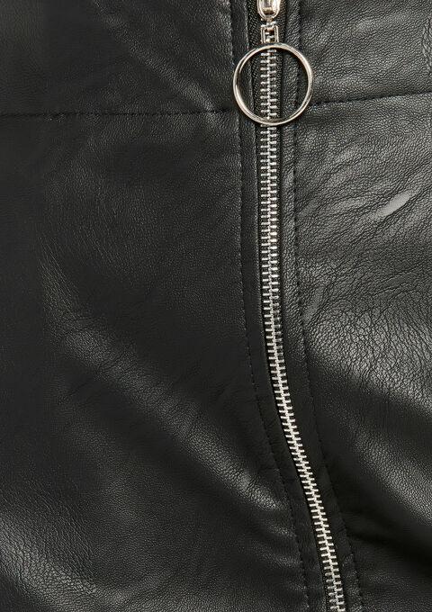 Minirok in imitatieleer - BLACK - 07100136_1119